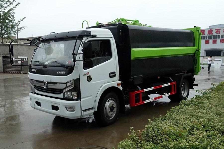 国六东风多利卡7方自卸式垃圾车新鲜出炉啦!