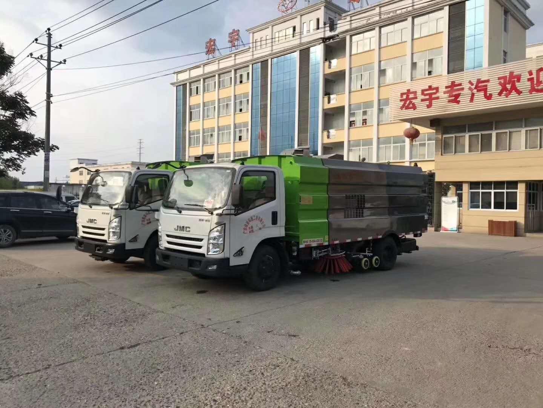 江铃凯锐8方洗扫车,市政环卫清扫车的小帮手图片