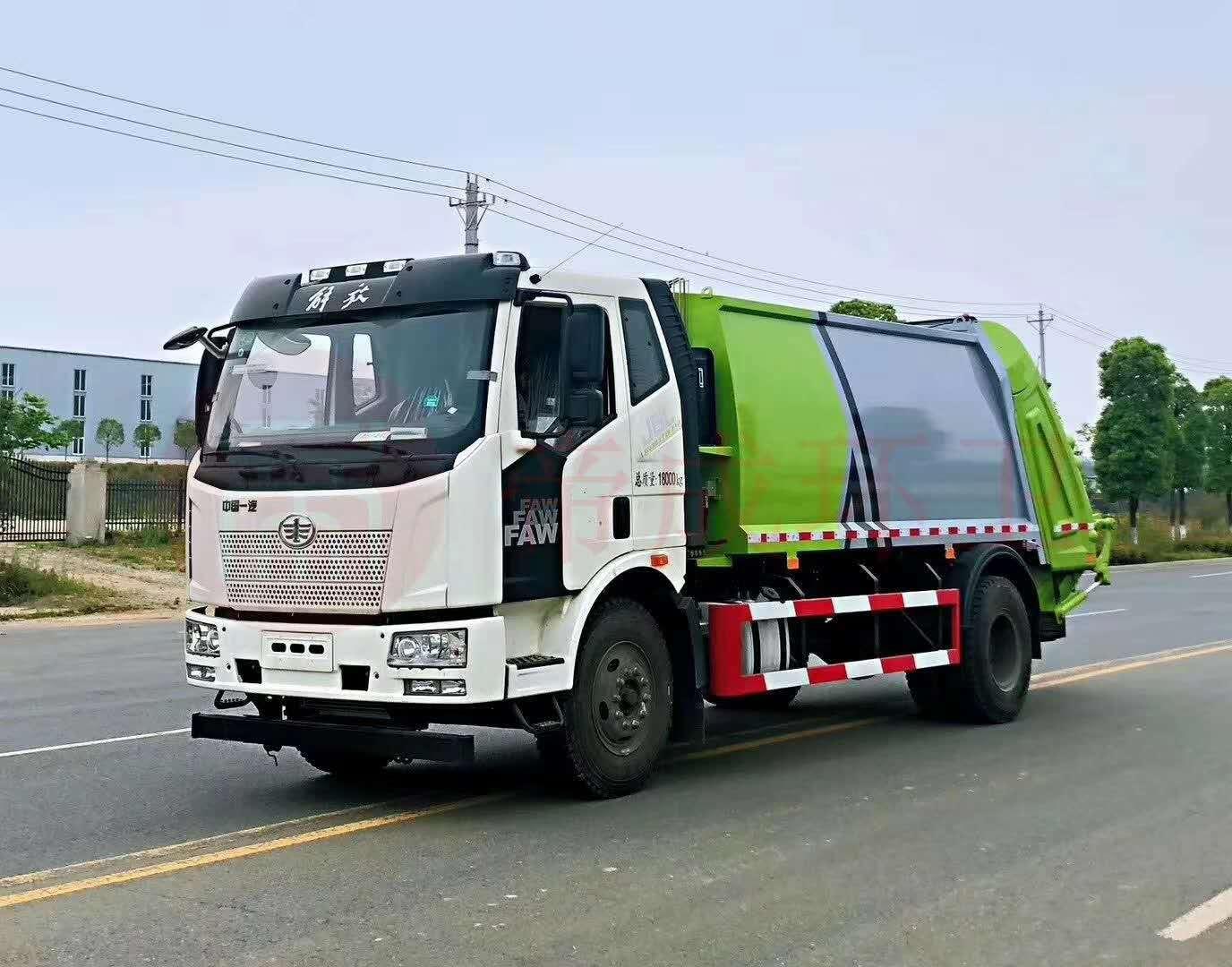 解放J6(12方)压缩垃圾车可上京牌