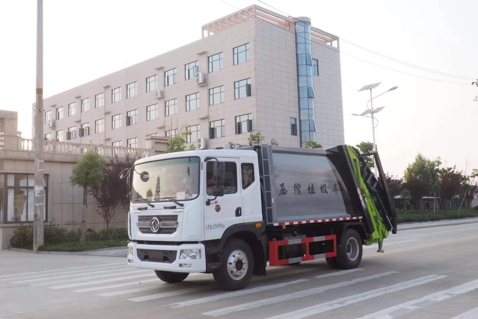 压缩垃圾车车好屌的样子