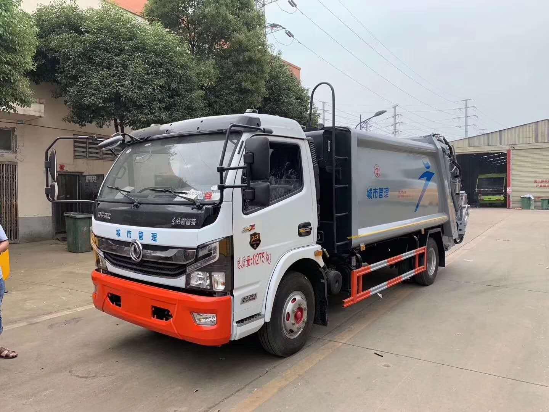 国六8立方垃圾车-压缩垃圾车操作视频