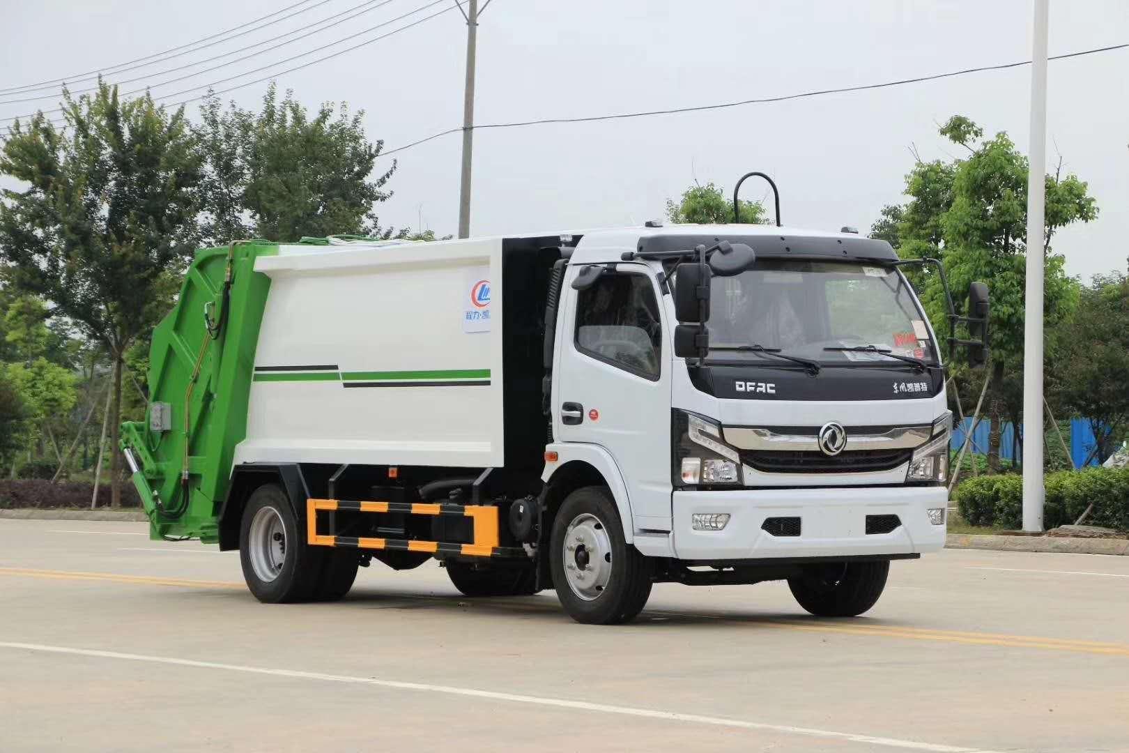 首批国六8立方垃圾车-8立方压缩垃圾车基本配置图片图片