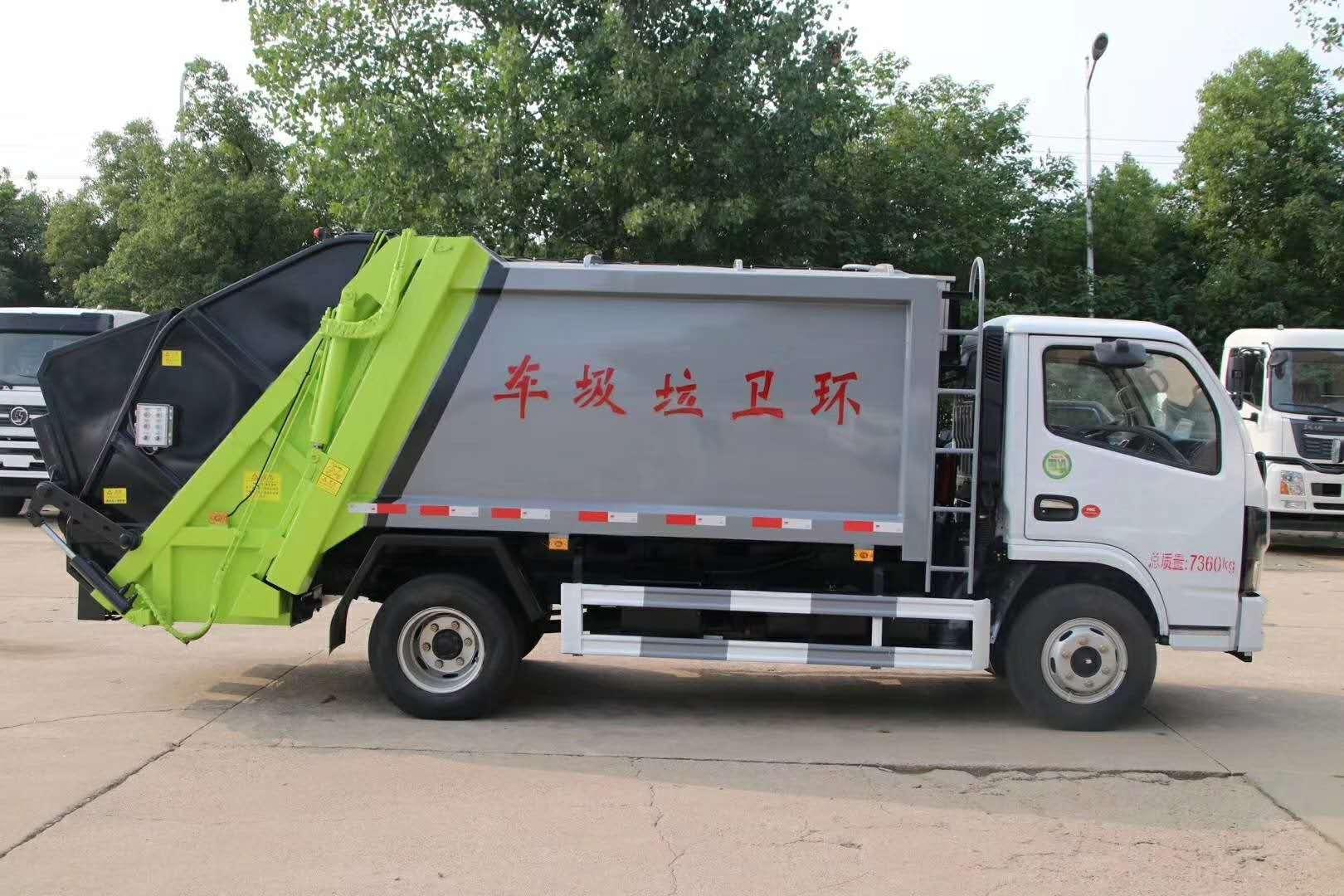国六东风多利卡5方压缩式垃圾车图片