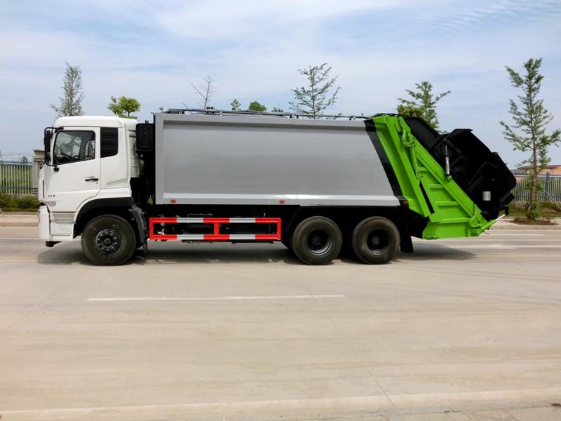 东风后双桥垃圾车-东风18立方垃圾车图片价格图片
