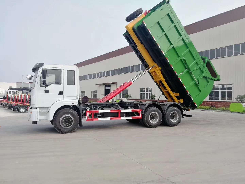 东风天龙自卸式垃圾车,国际知名品牌图片