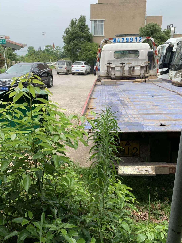 二手平板拖车/二手平板清障车/二手一拖二平板拖车