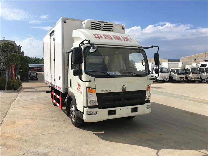 国六重汽豪沃4.2米货箱蓝牌冷藏车