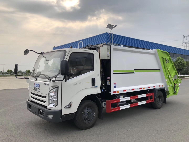 东风压缩垃圾车-垃圾车工作视频视频