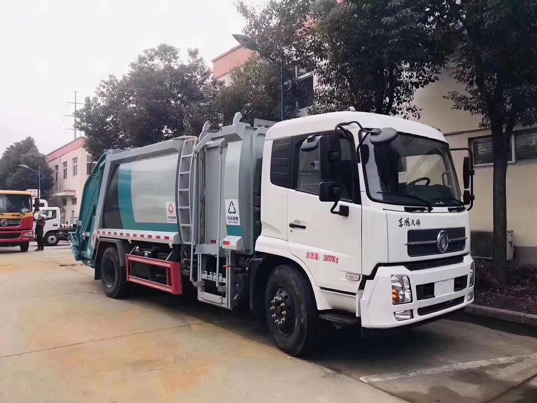 东风天锦分类14方压缩垃圾车-垃圾车厂家图片