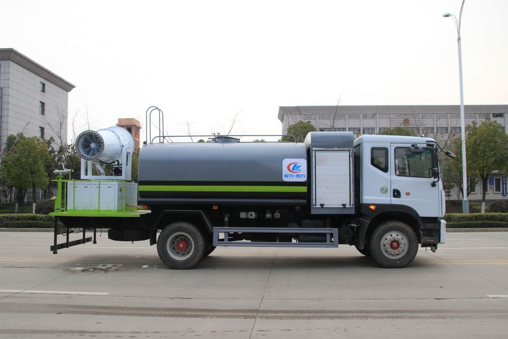 12方環衛綠化灑水車60米霧炮灑水車效果