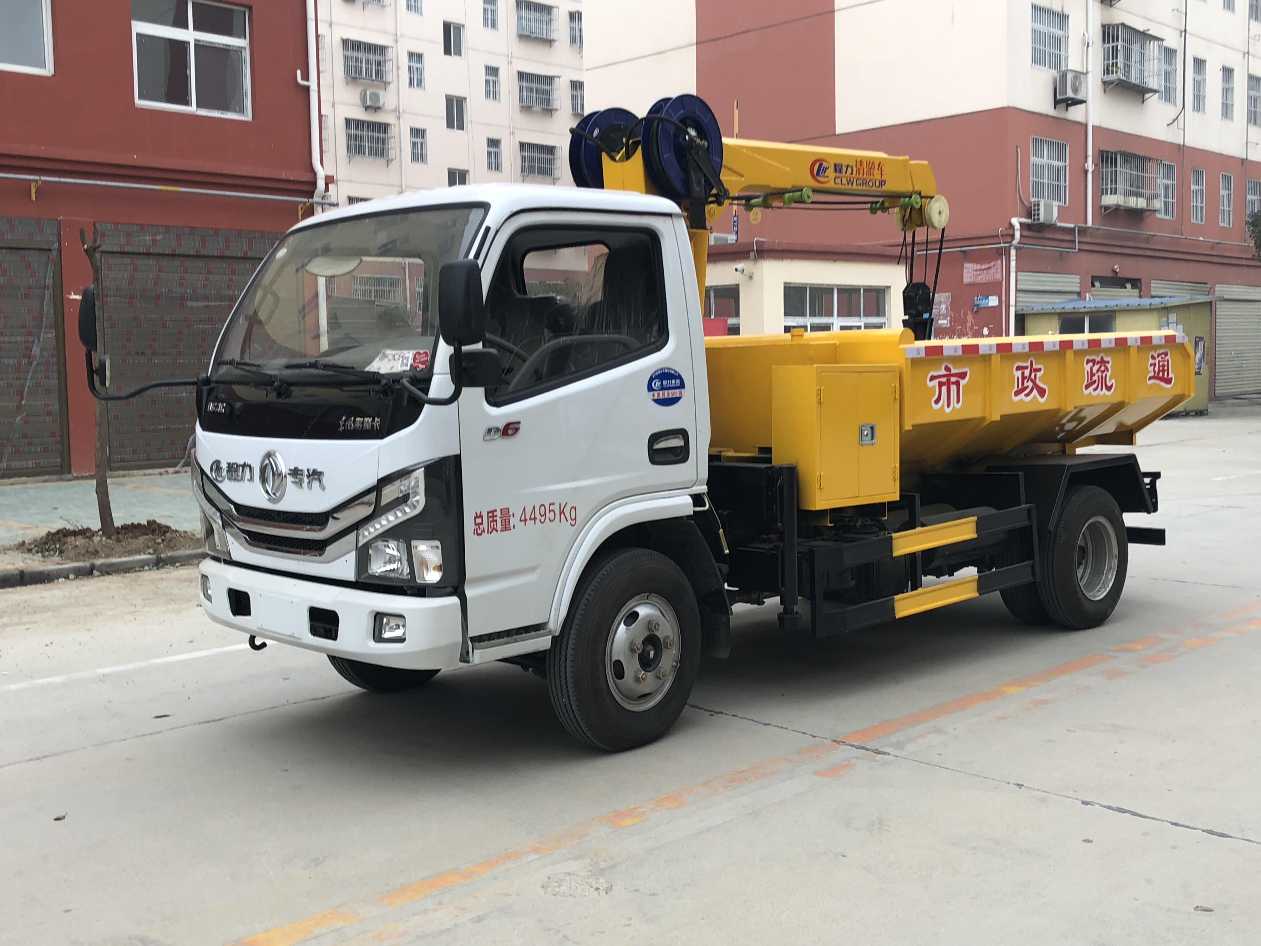 国六东风多利卡管道清淤车图片