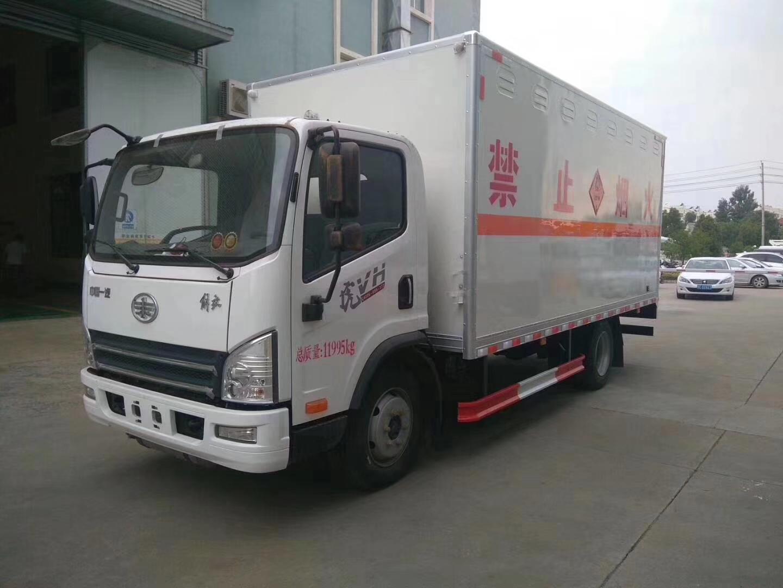 國五解放虎VH 黃牌危險品運輸車圖片