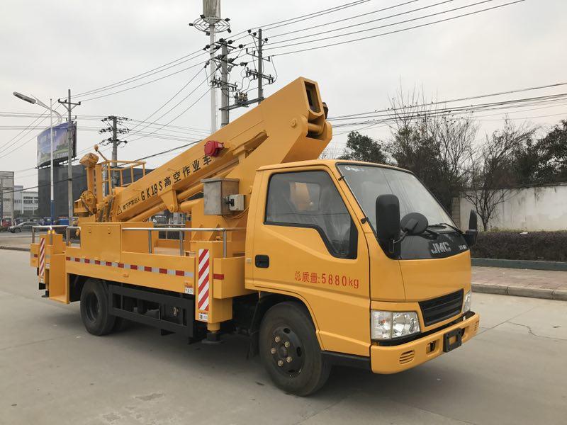 江铃16-18米伸缩臂高空作业车