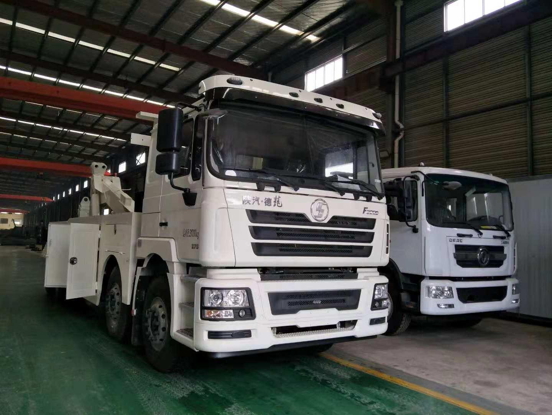 360度旋转吊拖车救援车30吨陕汽德龙前四后八大型拖车价格