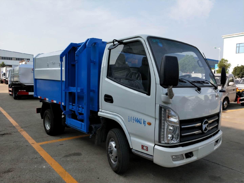 自卸式垃圾车凯马侧挂桶现车厂家最新图片