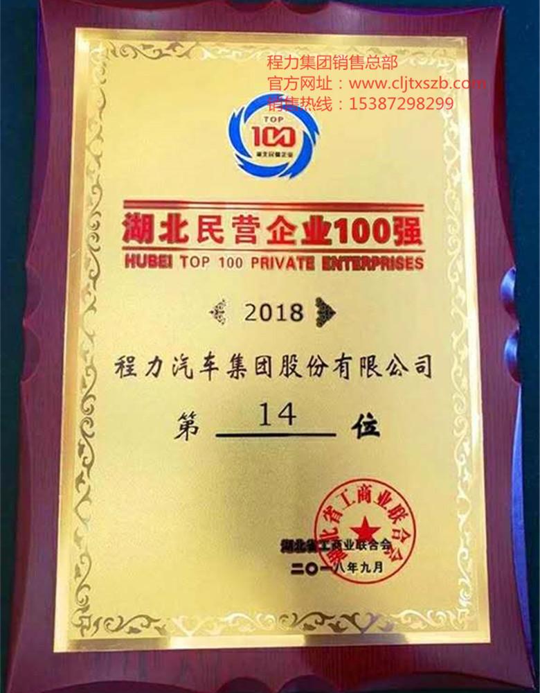 湖北民营企业100强2018