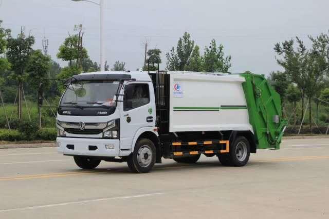 8立方压缩垃圾车价格图片-自带清洗功能垃圾车视频