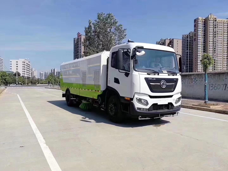 东风天锦国六天然气动力洗扫车图片