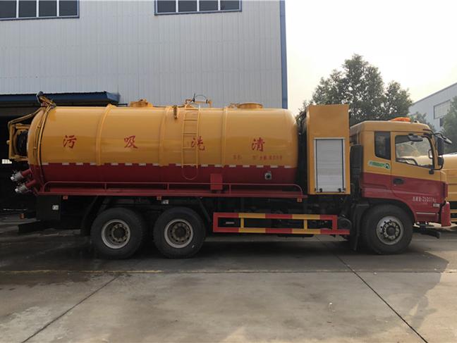 20吨东风锦程清洗吸污车