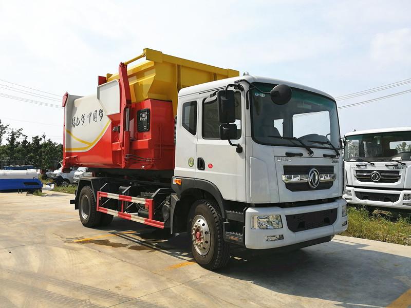 国六东风D9车厢可卸式垃圾车