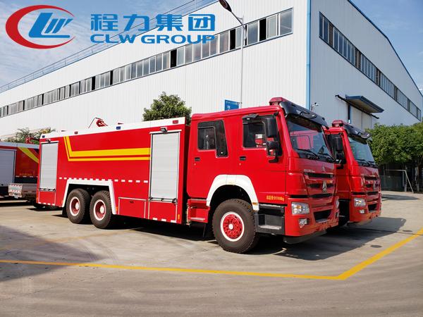重汽16噸水罐消防車