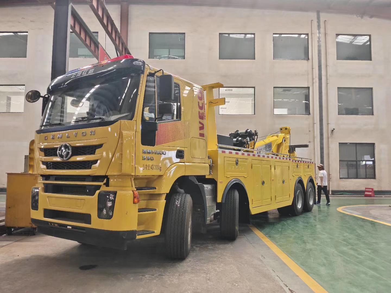 25吨上汽红岩工清障救援拖车图片