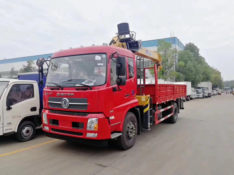 (6.3-8吨吊机)东风天锦随车起重运输车_高清图片