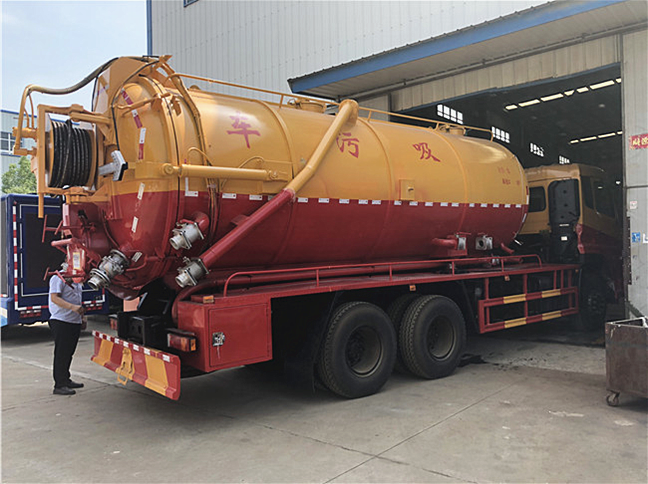 20吨天龙清洗吸污车