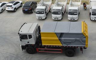 东风天锦对接式垃圾车展示图片