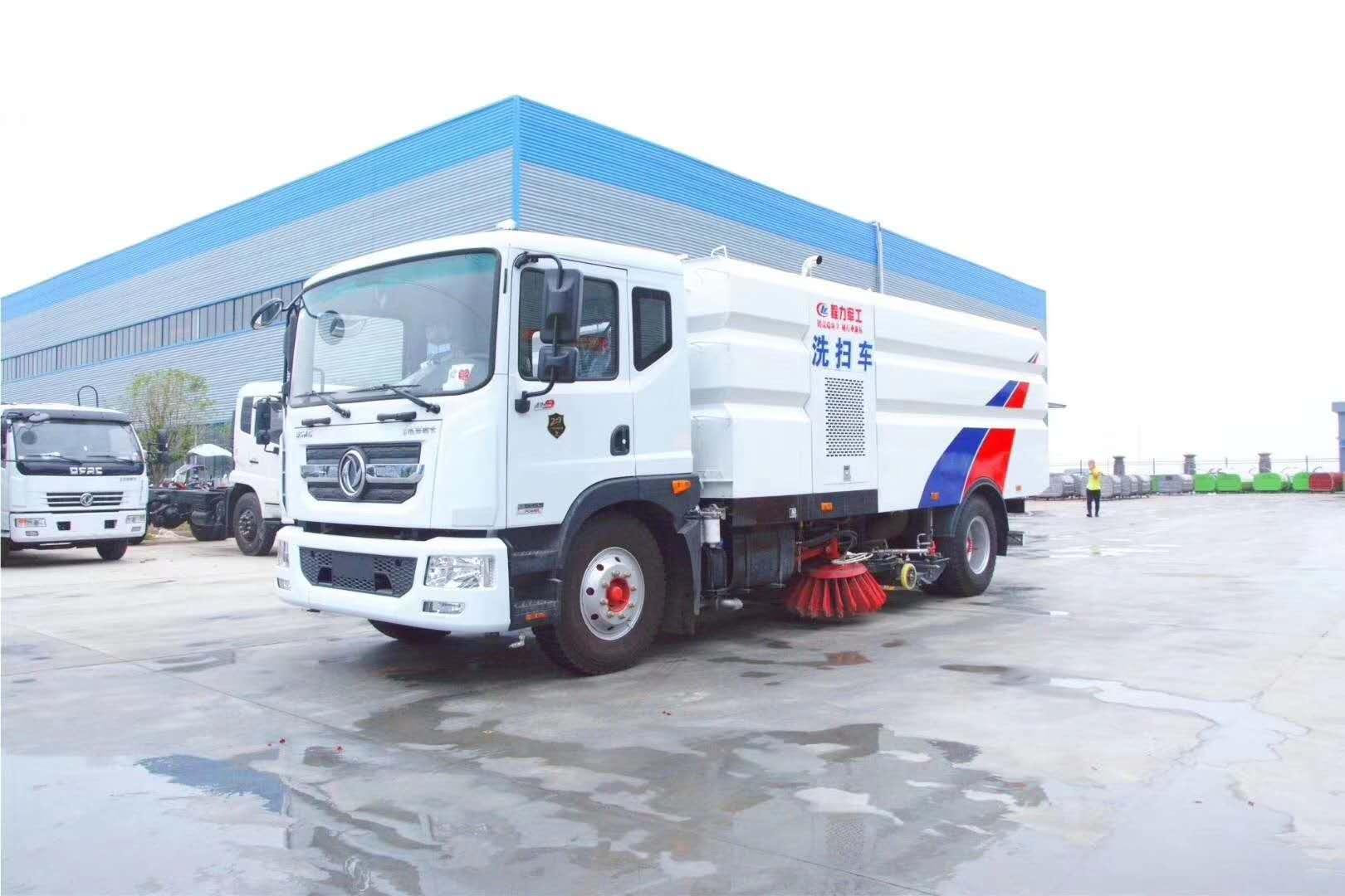 程力牌東風8噸洗掃車,道路灑水掃路車專家圖片
