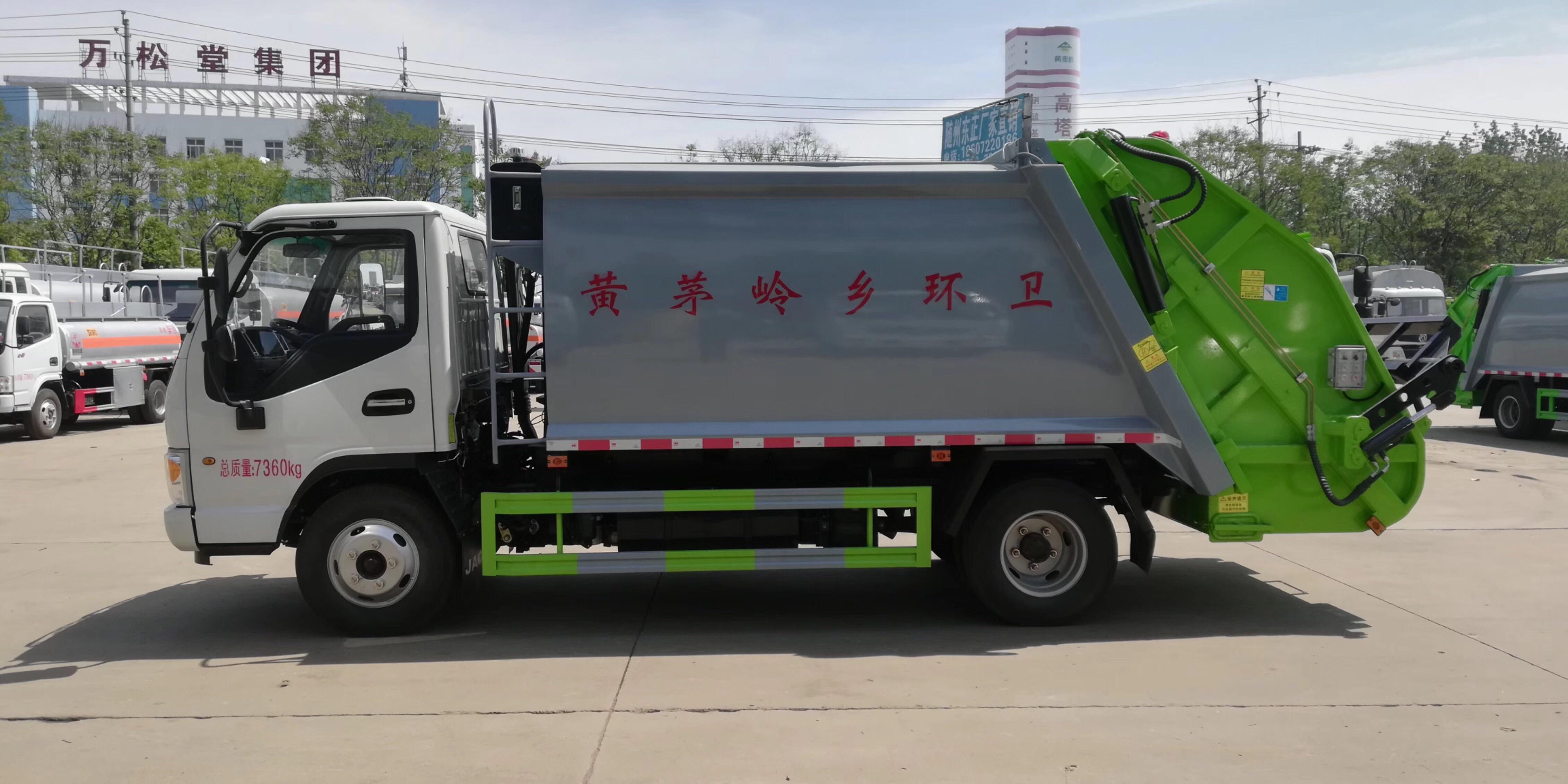 8方压缩垃圾车厂家试车视频