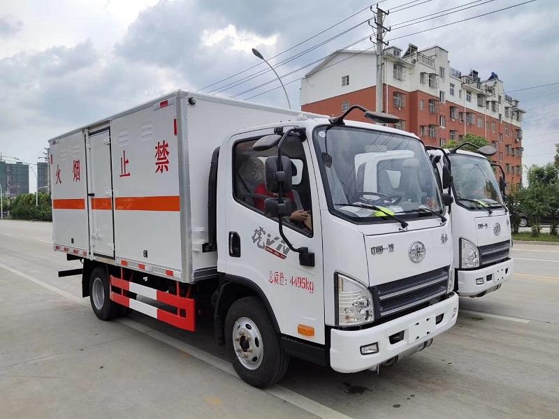 解放虎V气瓶厢式运输车全国包上户 可分期 图片参数配置视频