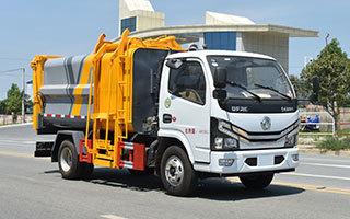 自装卸式垃圾车方位图图片