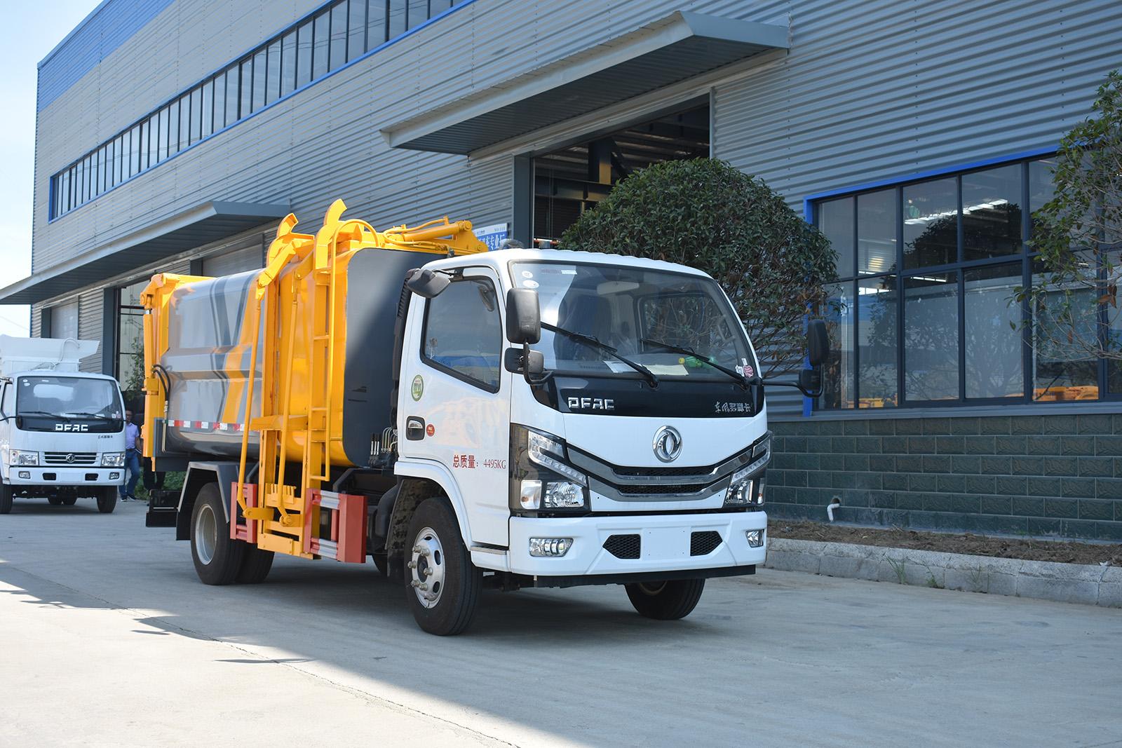 东风多利卡自装卸式垃圾车图片