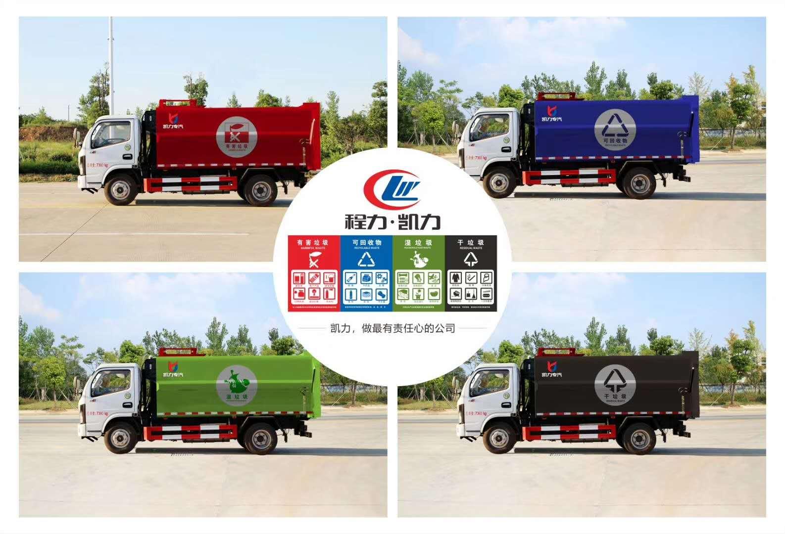 垃圾分类车-自装卸式垃圾分类车价格图片图片