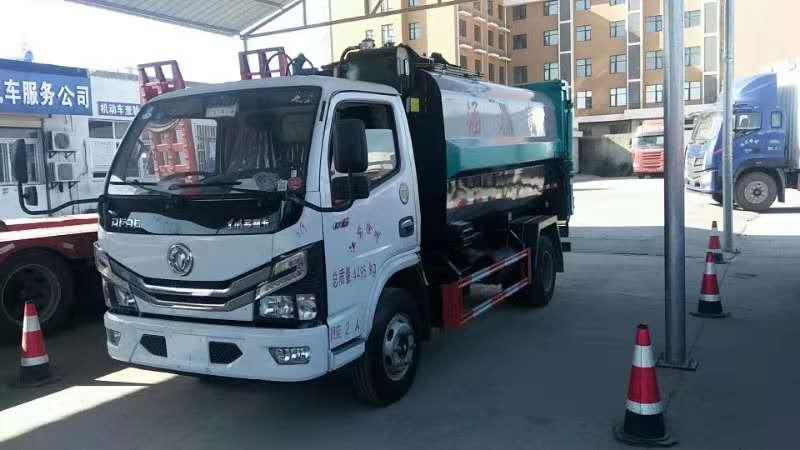 国六东风蓝牌垃圾车 分类垃圾车图片
