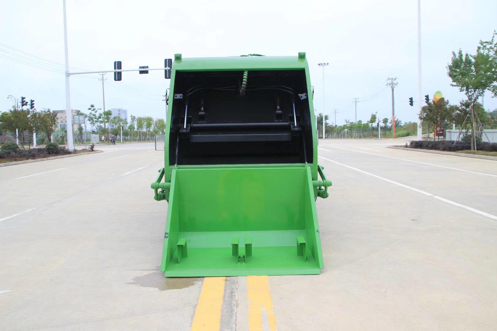 三角斗挂桶压缩垃圾车视频