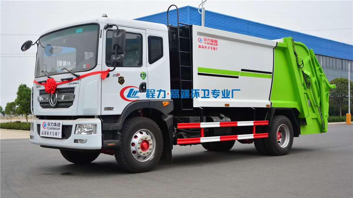 国六东风压缩垃圾车 轻松上牌程力环卫垃圾车图片