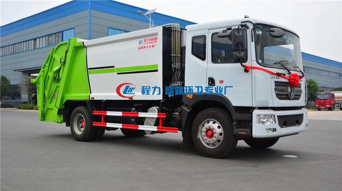 国六东风12方压缩垃圾车视频