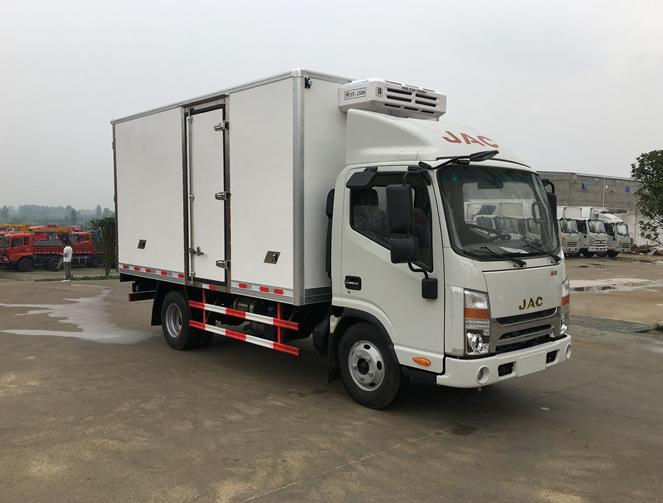 江淮帅铃窄体4.2米冷藏车最新款冷藏车图片