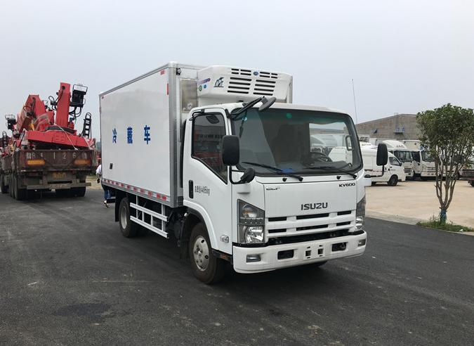 庆铃五十铃KV600P冷藏车最新配置图片