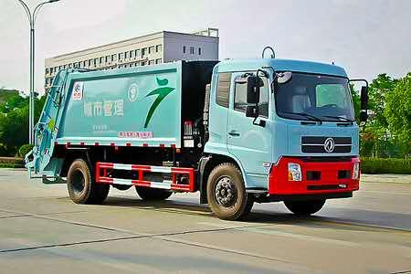 东风天锦压缩式垃圾车全方位展示视频