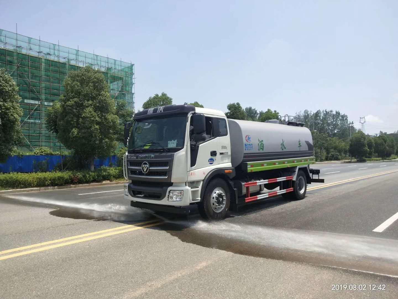 福田15方灑水車170馬力8檔現車直銷廠家圖片
