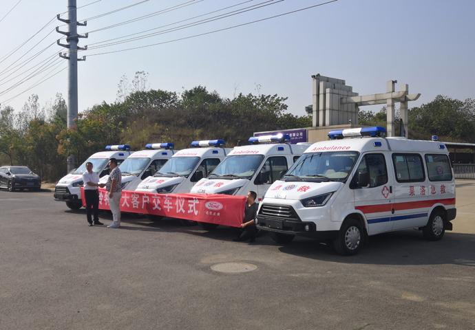 国六江铃特顺救护车(短轴)