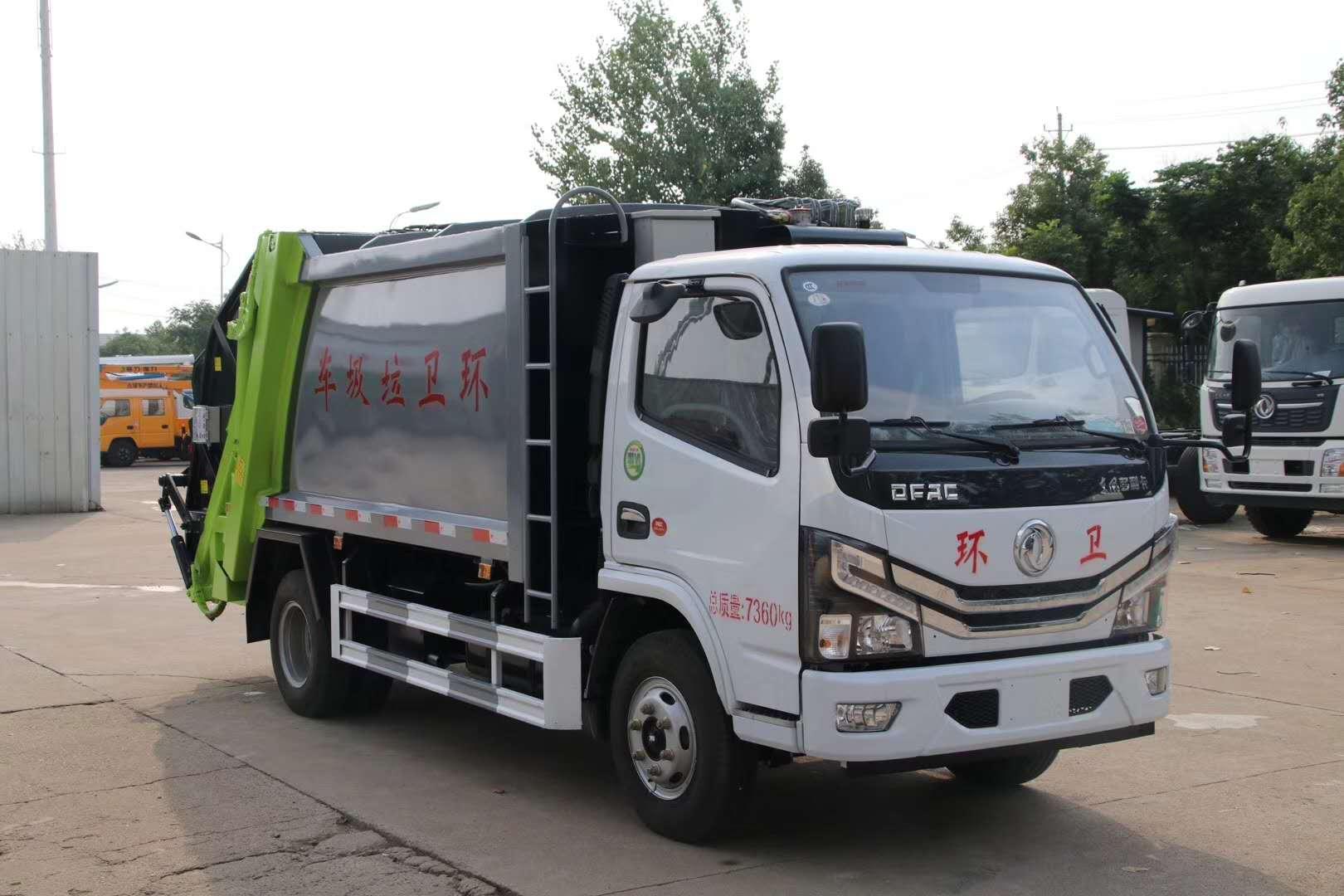 國六東風6方壓縮垃圾車圖片圖片