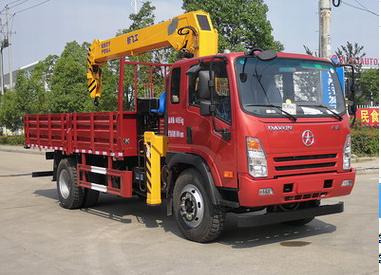 (2-3.2吨吊机)蓝牌大运随车起重运输车