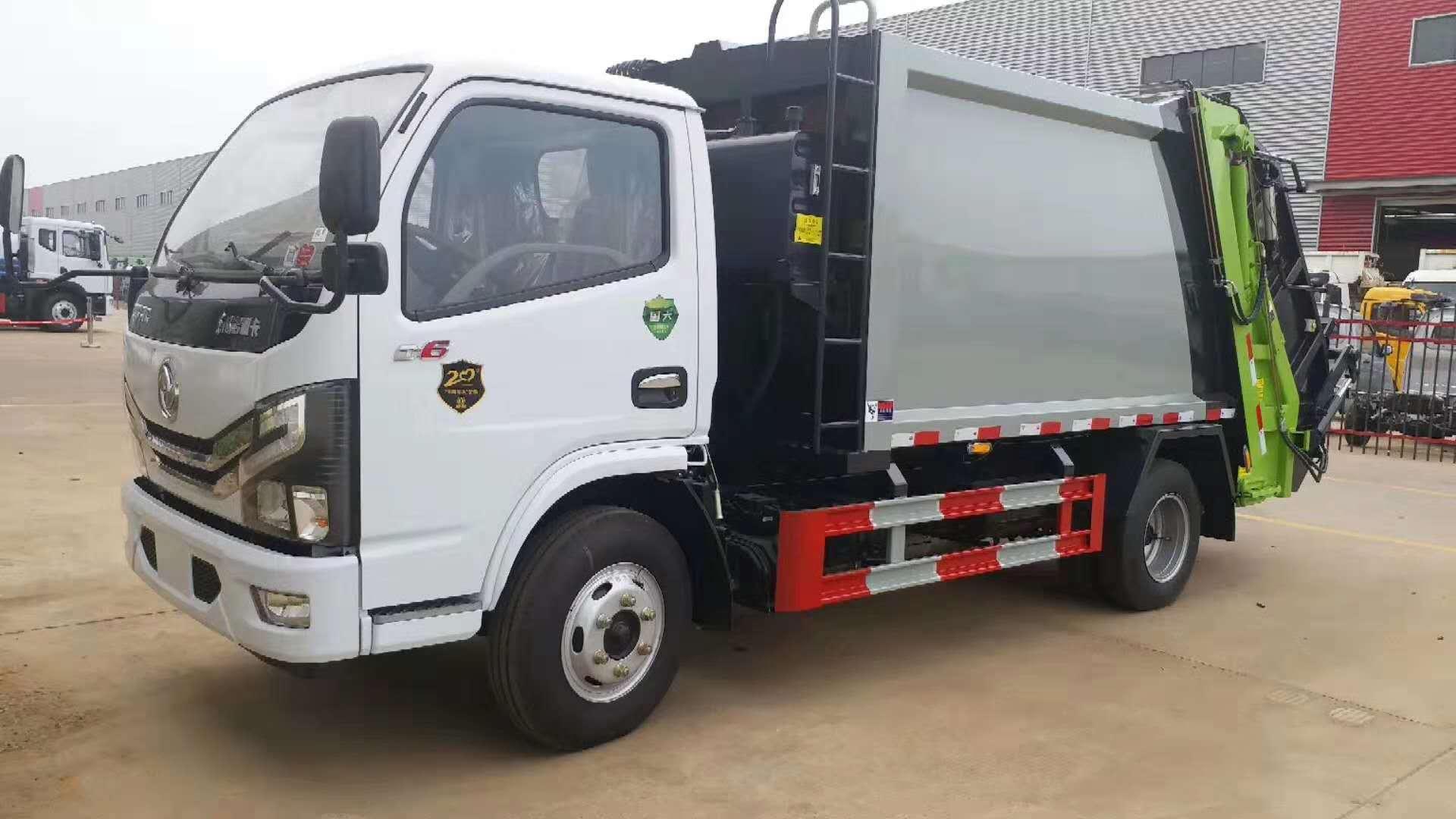 國六東風小多利卡6方壓縮垃圾車圖片