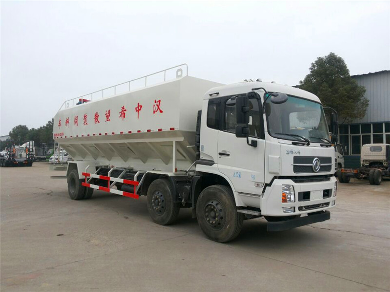 东风天锦30方散装饲料运输车图片