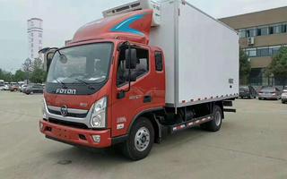福田奥铃一排半4.6米冷藏车 4.6米海鲜冷藏车 猪肉运输车
