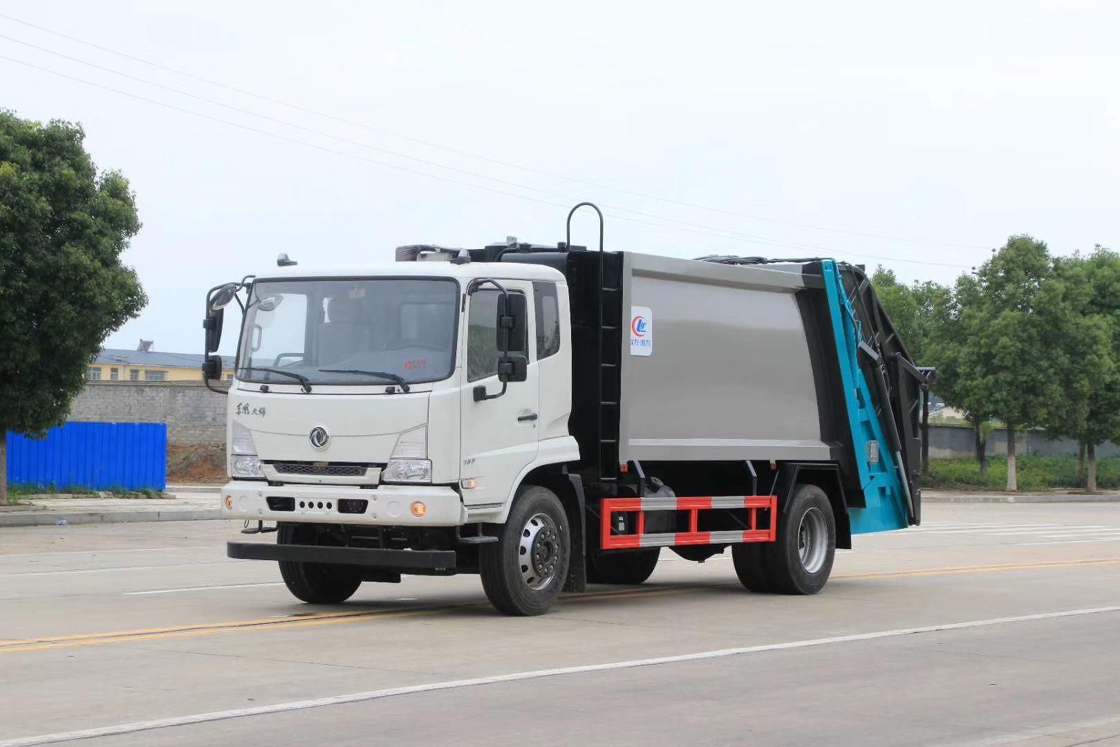 国六东风天锦12方压缩垃圾车